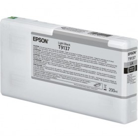 T9137-TANICA INCHIOSTRO LIGHT NERO PER PLOTTER EPSON SURECOLOR SERIES SC-P5000