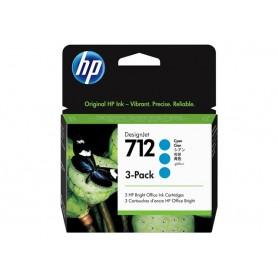 3 Cartucce inchiostro HP ciano 712 29ml 3ED77A