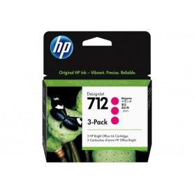 3 Cartucce inchiostro HP magenta 712 29ml 3ED78A