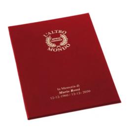 Libro firma senza cordoncino con copertina mordida style o metal