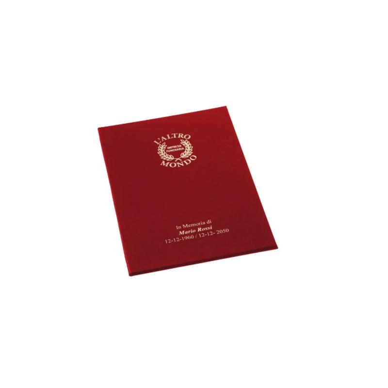 Libro firma senza cordoncino con copertina morbida fashion similpelle