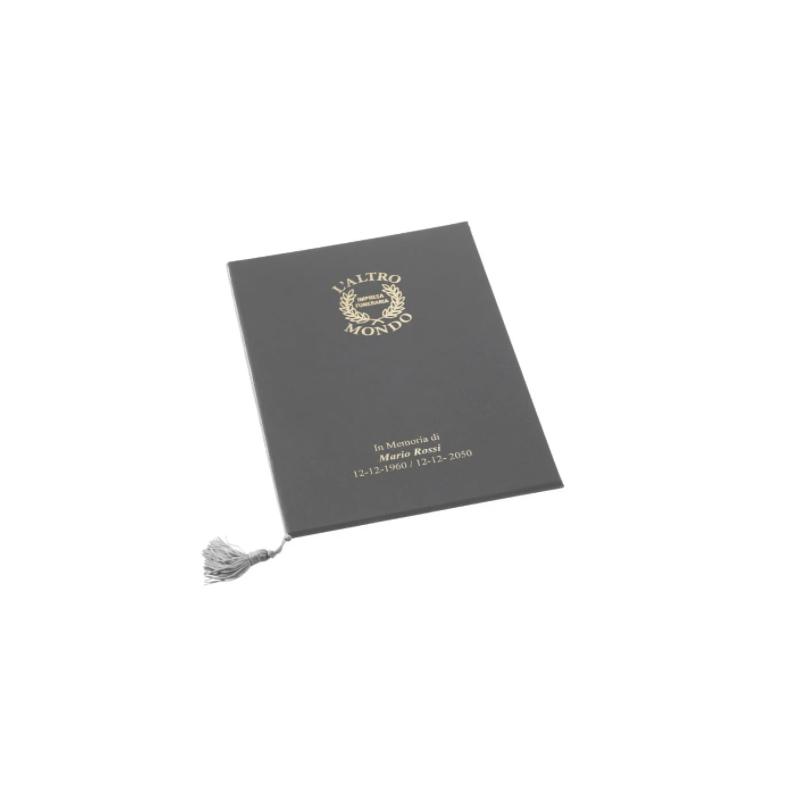Libro firma con cordoncino con copertina dura style o metal o marano